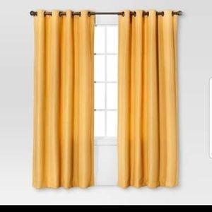 4 Yellow Basketweave Grommet Panels